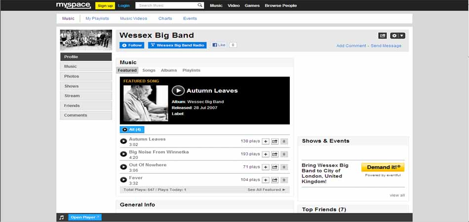 Follow Wessex Big Band on Myspace........