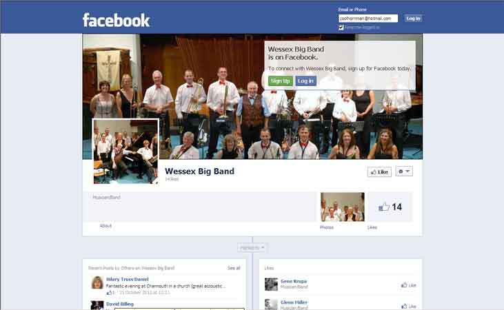 Follow Wessex Big Band on Facebook........