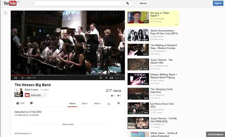 Follow Wessex Big Band on Utube........